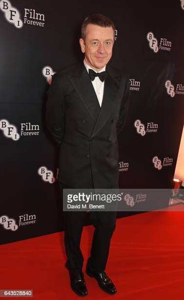 Peter Morgan attends the annual BFI Chairman's Dinner honouring Peter Morgan with the BFI Fellowship at Claridge's Hotel on February 21 2017 in...