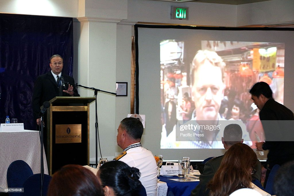 Peter Morgan of Assistant Commissioner, Service Quality of Hong Kong Police share they experiences and how they react during SARS badly hit Hongkong the 3 days of ASEAN Regional Forum Cooperation on Bio-Preparedness and Disaster Response Workshop from August 26-28 held in Makati City.