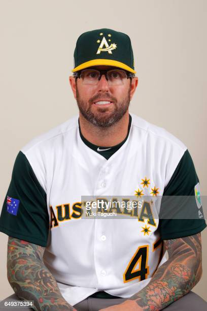 Peter Moylan of Team Australia poses for Pool B of the 2017 World Baseball Classic for a headshot at the Tokyo Dome on Thursday March 7 2017 in Tokyo...