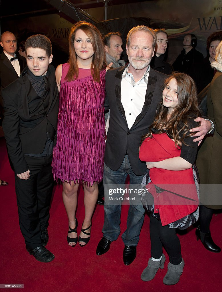 Peter Mullan And Family Arrive For The Uk Royal Film Premiere Of War Horse At The Odeon West End, London.