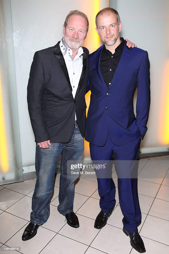Peter Mullan (L) attends 'The Man Inside' UK film premiere at the Vue Leicester Square on July 24, 2012 in London, England.
