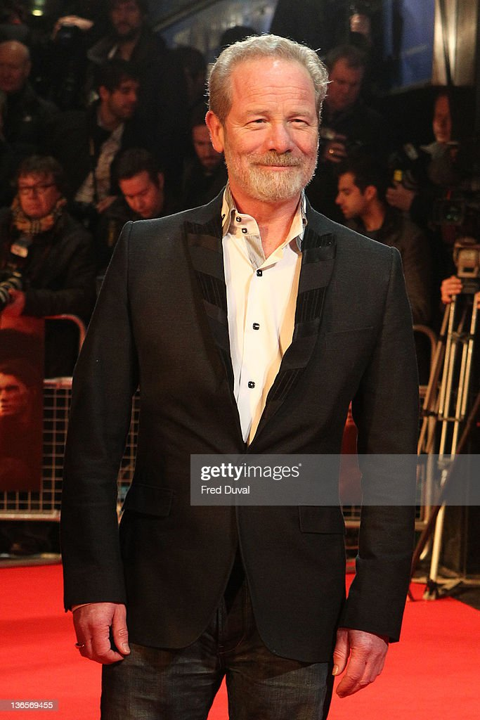 Peter Mullan attends the UK premiere of War Horse at Odeon Leicester Square on January 8, 2012 in London, England.