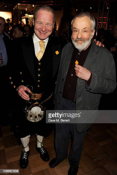 Peter Mullan director of best film winner 'Neds' and director Mike Leigh attend the London Evening Standard British Film Awards 2011 at the London...