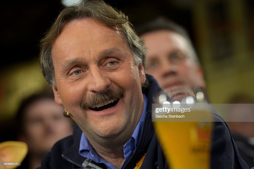 Peter Neururer attends the Sport1 Mobilat Fan Talk at 11 Freunde Bar on December 10 2013 in Essen Germany
