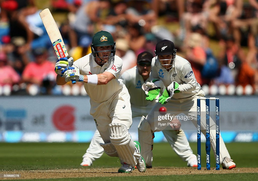 <a gi-track='captionPersonalityLinkClicked' href=/galleries/search?phrase=Peter+Nevill&family=editorial&specificpeople=6755208 ng-click='$event.stopPropagation()'>Peter Nevill</a> of Australia bats during day two of the Test match between New Zealand and Australia at Basin Reserve on February 13, 2016 in Wellington, New Zealand.