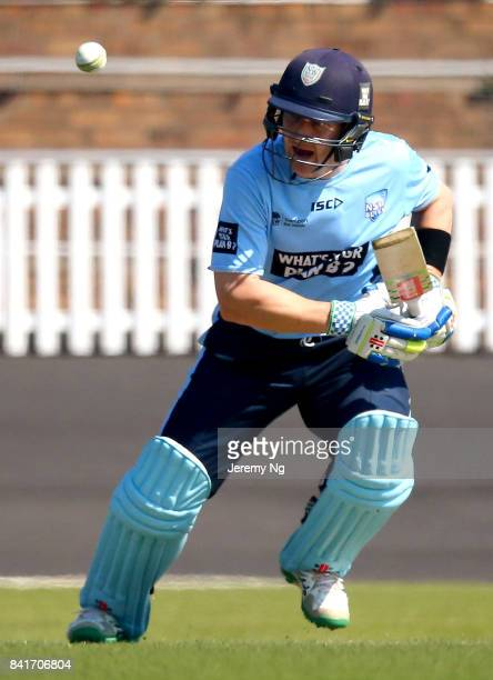 Peter Nevill of Cricket NSW plays a cover drive during the Cricket NSW Intra Squad Match at Hurstville Oval on September 2 2017 in Sydney Australia