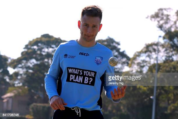 Peter Nevill of Cricket NSW prepares prior to the Cricket NSW Intra Squad Match at Hurstville Oval on September 2 2017 in Sydney Australia
