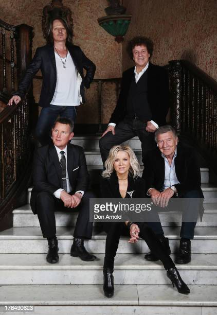 Peter Northcote Tom Burlinson Danielle Spencer Leo Sayer and Don Spencer pose during a photo call on August 14 2013 in Sydney Australia The fourth...
