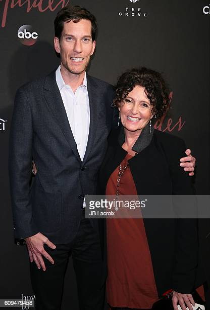 Peter Norwalk and Lyn Paolo attend the premiere of ABC's 'How To Get Away With Murder' season 3 on September 2016 in Los Angeles California