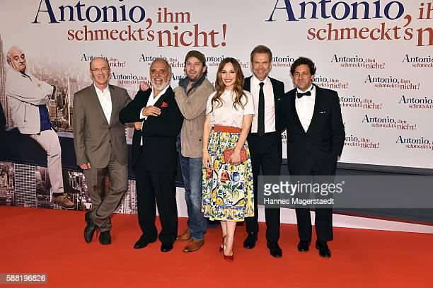 Peter Nottmeier Alessandro Bressanello Christian Ulmen Mina Tander Sven Unterwaldt and Yari Gugliucci attend the premiere of the film 'Antonio ihm...