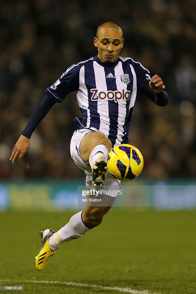 <a gi-track='captionPersonalityLinkClicked' href=/galleries/search?phrase=Peter+Odemwingie&family=editorial&specificpeople=648594 ng-click='$event.stopPropagation()'>Peter Odemwingie</a> of West Bromwich Albion in action uring the Barclays Premier League match between West Bromwich Albion and Aston Villa at The Hawthorns on January 19, 2013 in West Bromwich, England.