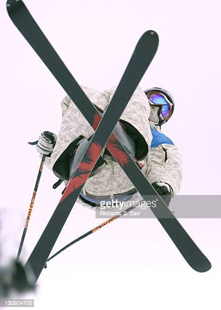 Peter Olenick grabs some air in the Men's Ski Slopestyle event during the Winter X Games IX at Buttermilk Mountain in Aspen Colorado on January 30...