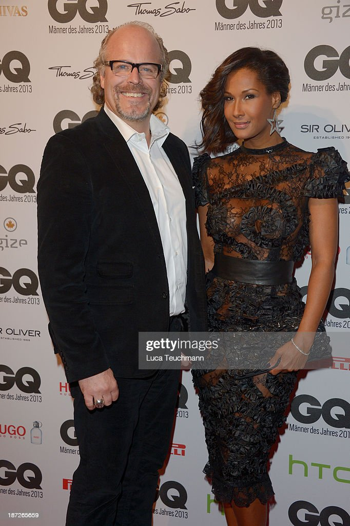 Peter Olsson and Marie Amiere arrive at the GQ Men of the Year Award at Komische Oper on November 7, 2013 in Berlin, Germany.