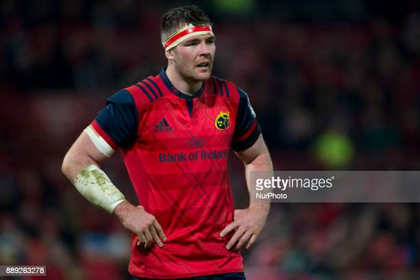 Peter O'Mahony of Munster pictured during the European Rugby Champions Cup Round 3 match between Munster Rugby and Leicester Tigers at the Thomond...