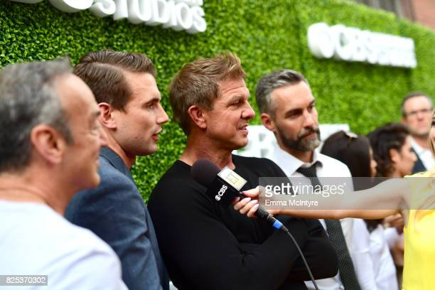 Peter Onorati Alex Russell Kenny Johnson and Jay Harrington attend the 2017 Summer TCA Tour CBS Television Studios' Summer Soiree at CBS Studios...