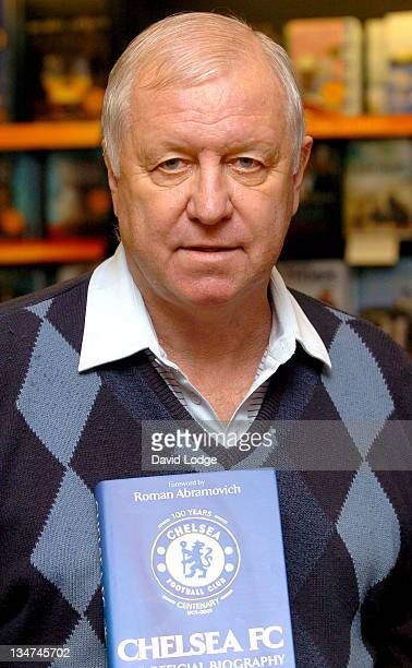 Peter Osgood during Former Chelsea Players Sign Copies of 'Chelsea FC The Official Biography' at Waterstone's in London November 1 2005 at...