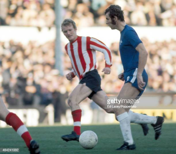 Peter Osgood of Chelsea in action against Southampton during their Division One football match at Stamford Bridge on 23rd October 1971 Chelsea won 30