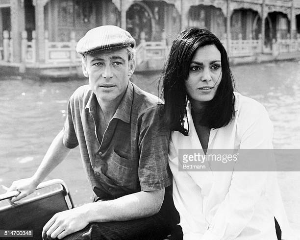 Peter O'Toole and Daliah Lavi in Hong Kong prior to the beginning of filming of Lord Jim mostly in Cambodia O'Toole played the title role