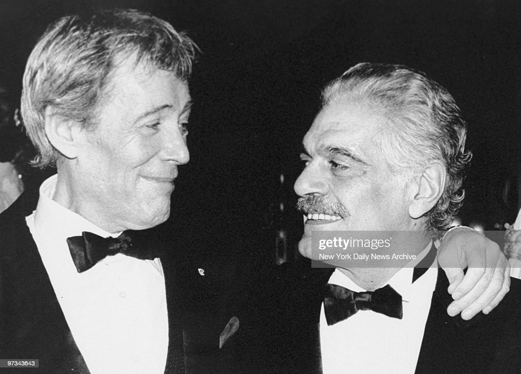 Peter O'Toole and Omar Sharif attend rerelease of their movie 'Lawrence of Arabia' at the Ziegfeld Theatre