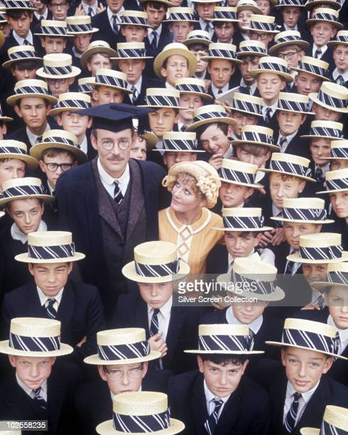 Peter O'Toole and Petula Clark star in the musical remake of the film 'Goodbye Mr Chips' 1969