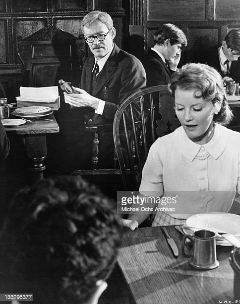 Peter O'Toole is stunned by the exquists statue of the Apollo that Petula Clark has given him in a scene from the film 'Goodbye Mr Chips' 1969