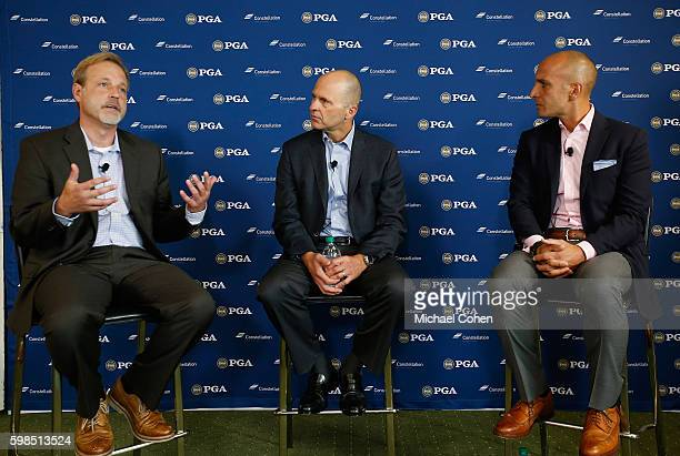 Peter P Bevacqua Chief Executive Officer PGA of America and Joe Nigro Chief Executive Officer Constellation look on as Justin Zeulner Executive...