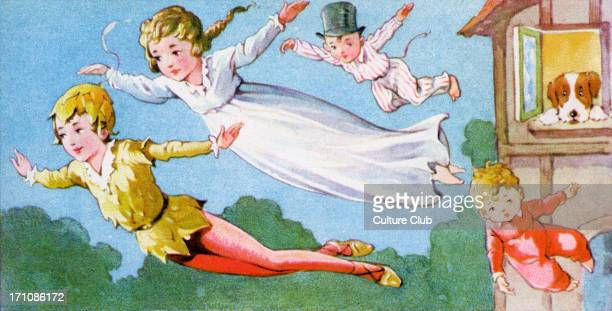 'Peter Pan and Wendy' 'Peter Pan and Wendy' by James Matthew Barrie A flying lesson with Peter Pan JMB Scottish novelist and dramatist 9 May 1860 –...