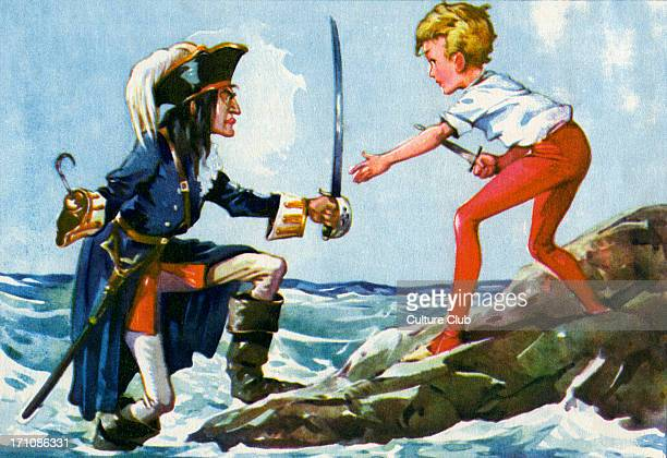 'Peter Pan and Wendy' 'Peter Pan and Wendy' by James Matthew Barrie Captain Hook and Peter Pan fight JMB Scottish novelist and dramatist 9 May 1860 –...