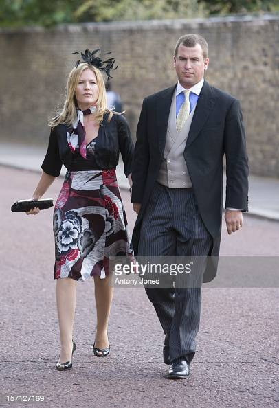 Peter Phillips And Autumn Phillips Arrive At The Wedding Of Lady Rose Windsor Youngest Daughter Of The Duke Duchess Of Gloucester Who Marries George...