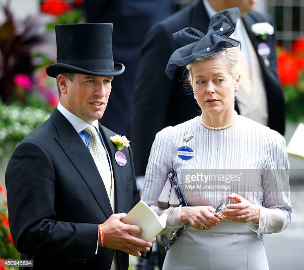 Peter Phillips and Lady Helen Taylor attend Day 4 of Royal Ascot at Ascot Racecourse on June 20 2014 in Ascot England