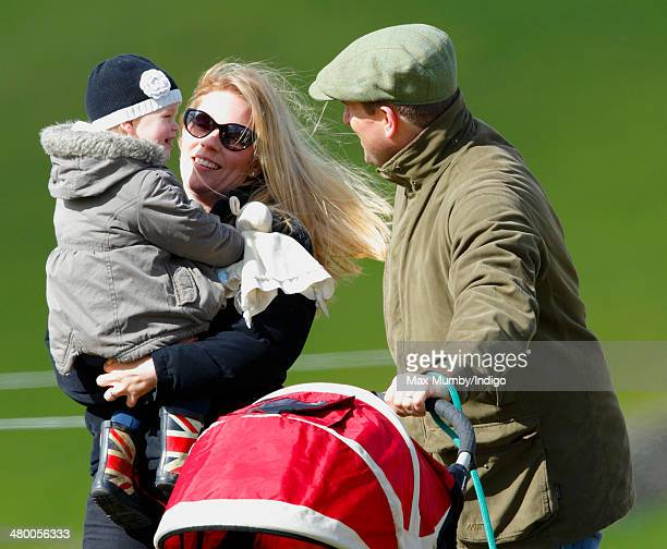 Peter Phillips Autumn Phillips and their daughter Isla Phillips attend the Gatcombe Horse Trials at Gatcombe Park Minchinhampton on March 22 2014...