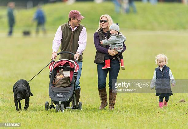 Peter Phillips Autumn Phillips Isla Phillips and Savannah Phillips attend the Gatcombe Horse Trials at Gatcombe Park Minchinhampton England