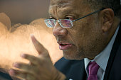 Peter Phillips Jamaica's finance minister listens during an interview in New York US on Friday Oct 31 2014 Phillips assumed office in January 2012...