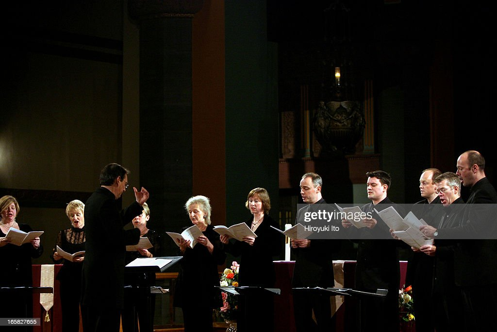 Peter Phillips leading the Tallis Scholars in a program 'Thomas Tallis: 500th Birthday Celebration' at the Church of St. Paul Apostle on Saturday night, December 10, 2005.In addition to the music of Tallis, they also sang the music of Taverner and Byrd.