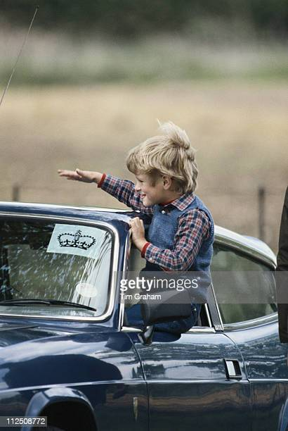 Peter Phillips leaning out of a car window at the Royal Windsor Horse Show held at Home Park in Windsor Berkshire England Great Britain 12 May 1984...