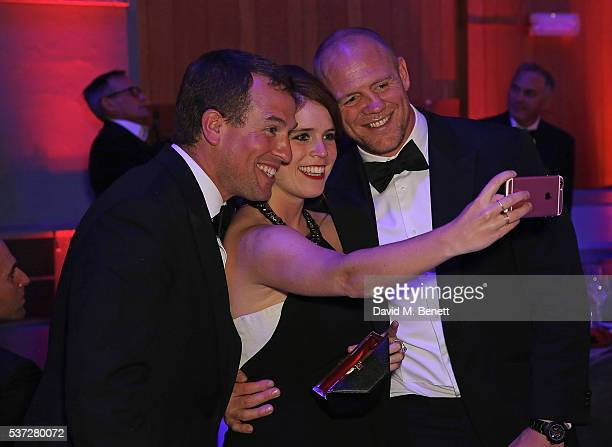 Peter Phillips Princess Eugenie and Mike Tindall attend End of Silence charity event at Abbey Road Studios in aid of Hope and Homes for children on...