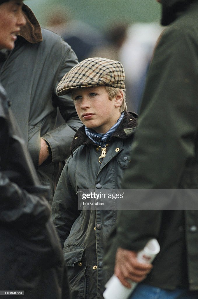 Peter Phillips Wearing A Waxed Jacket And Tweed Cap At The Royal Windsor Horse