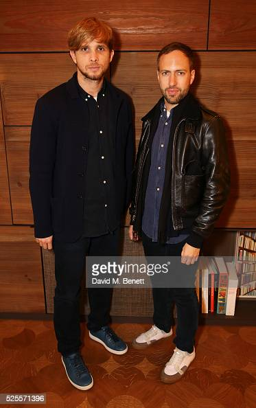 Peter Pilotto and Christopher de Vos attend the BFC Fashion Trust x Farfetch cocktail reception on April 28 2016 in London England
