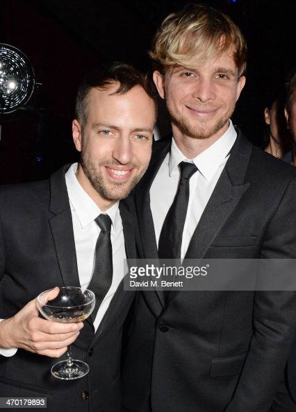 Peter Pilotto and Christopher de Vos attend the Elle Style Awards 2014 after party at One Embankment on February 18 2014 in London England