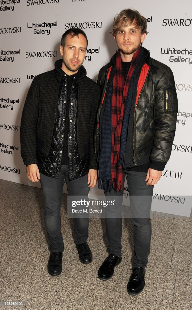 Peter Pilotto (L) and Christopher de Vos attend the Swarovski Whitechapel Gallery Art Plus Fashion fundraising gala in support of the gallery's education fund at The Whitechapel Gallery on March 14, 2013 in London, England.
