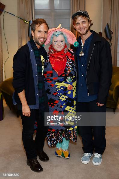 Peter Pilotto Bethan Laura Wood and Christopher De Vos attend Peter Piloto Francis Upritchard in partnership with American Express at...