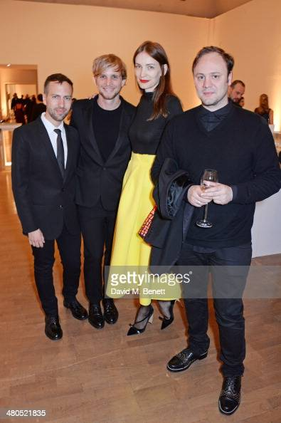 Peter Pilotto Christopher de Vos Roksanda Ilincic and Nicholas Kirkwood attend the Royal Academy Schools annual dinner and auction 2014 at Royal...