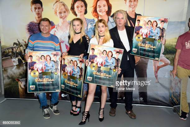 Peter Plate Lina Larissa Strahl LisaMarie Koroll and Detlev Buck attend the Bibi and Tina Photo Call and Award Reception at Atelier on June 6 2017 in...