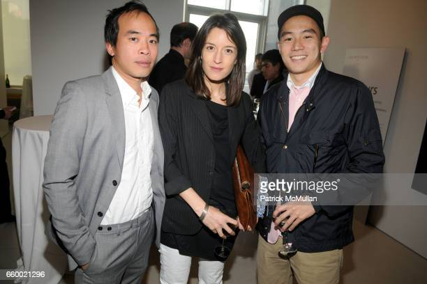 Peter Poopat Beth Poopat and Eugene Tong attend JM WESTON 'Huemers' Exhibition at The Flag Art Foundation on May 13 2009 in New York City
