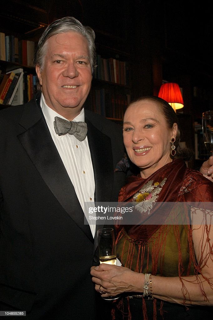 Peter Powell and Rita Gam during Official 2003 Academy of Motion Picture Arts and Sciences Oscar Night Party at Le Cirque 2000 at Le Cirque 2000 in New York, NY, United States.