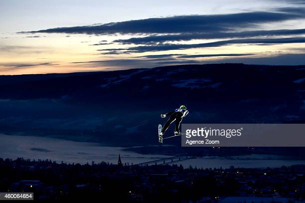 Peter Prevc of Slovenia competes during the FIS Ski Jumping World Cup Men's HS138 on December 06 2014 in Lillehammer Norway