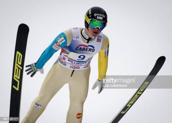 Peter Prevc of Slovenia jumps during the FIS Ski Jumping World Cup team competition on the Muehlenkopfschanze hill in Willingen western Germany on...