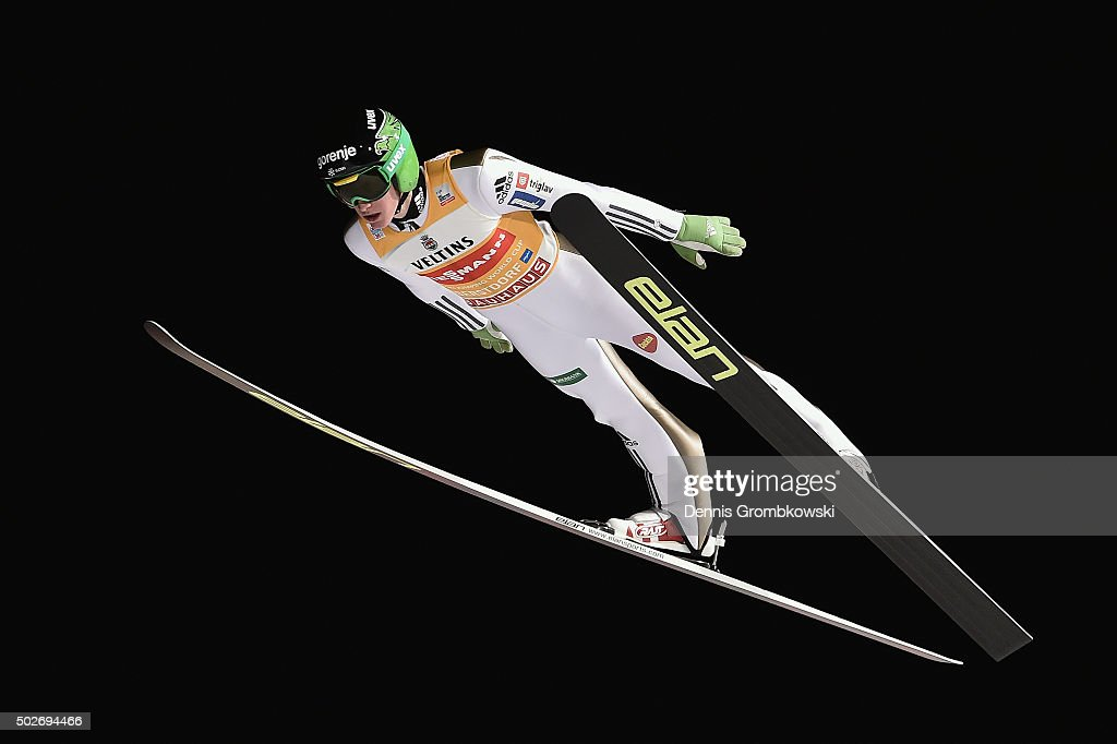 <a gi-track='captionPersonalityLinkClicked' href=/galleries/search?phrase=Peter+Prevc&family=editorial&specificpeople=6667561 ng-click='$event.stopPropagation()'>Peter Prevc</a> of Slovenia soars through the air during his qualification jump on Day 1 of the 64th Four Hills Tournament ski jumping event on December 28, 2015 in Oberstdorf, Germany.