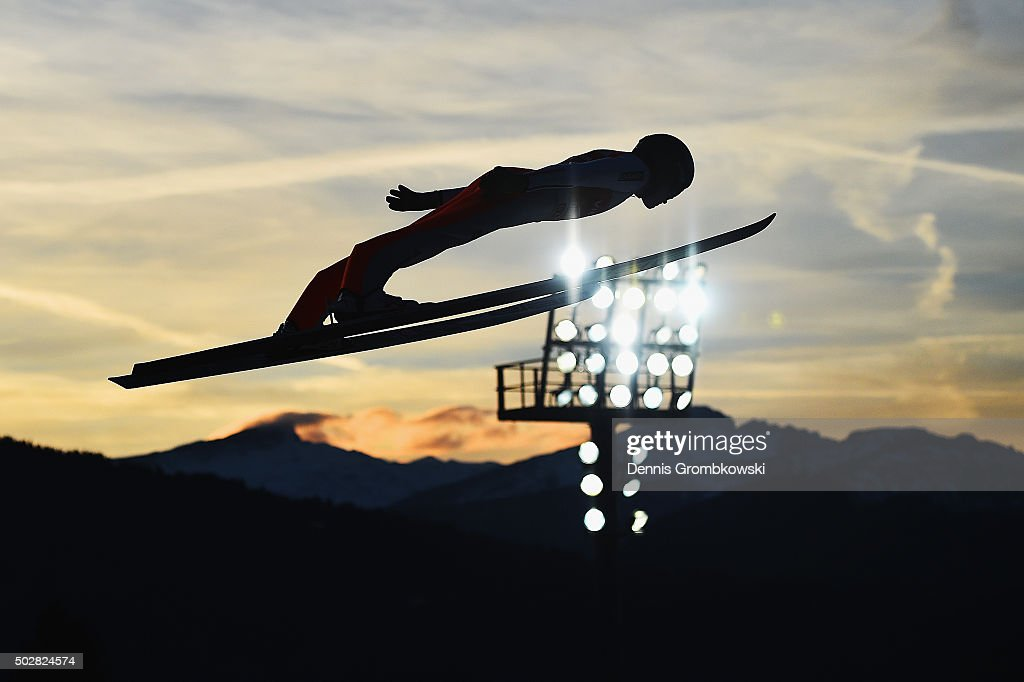 <a gi-track='captionPersonalityLinkClicked' href=/galleries/search?phrase=Peter+Prevc&family=editorial&specificpeople=6667561 ng-click='$event.stopPropagation()'>Peter Prevc</a> of Slovenia soars through the air during his trial jump on Day 2 of the 64th Four Hills Tournament event on December 29, 2015 in Oberstdorf, Germany.
