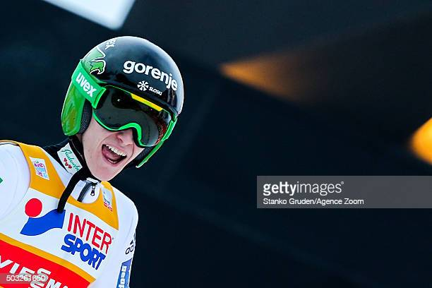 Peter Prevc of Slovenia takes 1st place during the FIS Nordic World Cup Four Hills Tournament on January 3 2016 in Innsbruck Austria